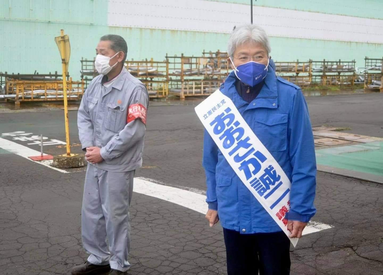 【選挙戦2日目】おおさか誠二さん(北海道8区)、石川かおりさん(北海道11区)は、悪天候のなか地域を走り回りました。
